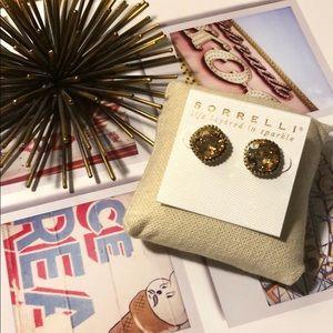 Sorrelli Dark Champagne Essentials Stud Earrings
